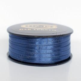 Лента атласная 5 мм синяя (1 м)