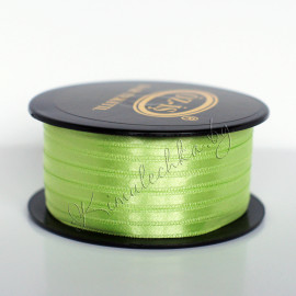 Лента атласная 5 мм зеленая (1 м)