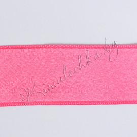 Лента атласная 30 мм розовая (1 м)