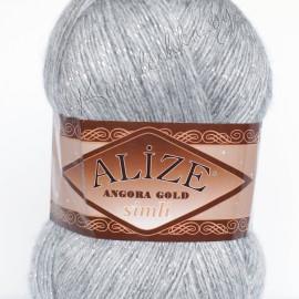 Angora Gold Simli серый меланж (614)