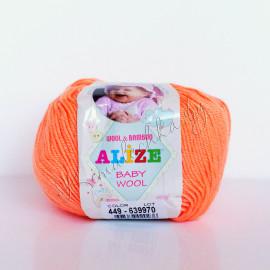 Baby Wool оранж. неон (654)