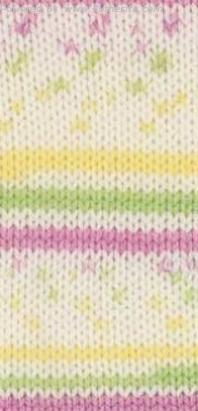 цвет 504 - белый, розовый, зеленый, жёлтый