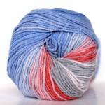коралл, серый, синий, голубой (3559)